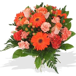 Fresh Orange Flower Bouquets from Flower Biz Christchurch