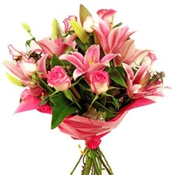 Fresh Pink Lilies from Flower Biz Christchurch