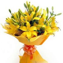 Fresh Gold Lillies from Flower Biz Christchurch